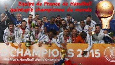 France quintuple championne du monde de Handball